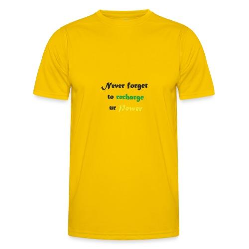 Recharge ur power saying in English - Men's Functional T-Shirt
