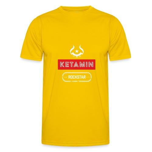 KETAMIN Rock Star - Weiß/Rot - Modern - Men's Functional T-Shirt