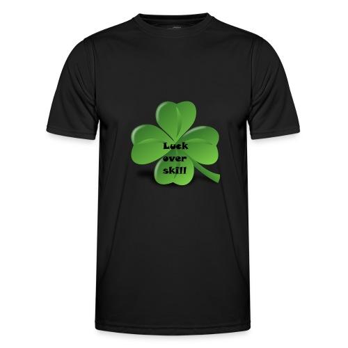 Luck over skill - Funksjons-T-skjorte for menn