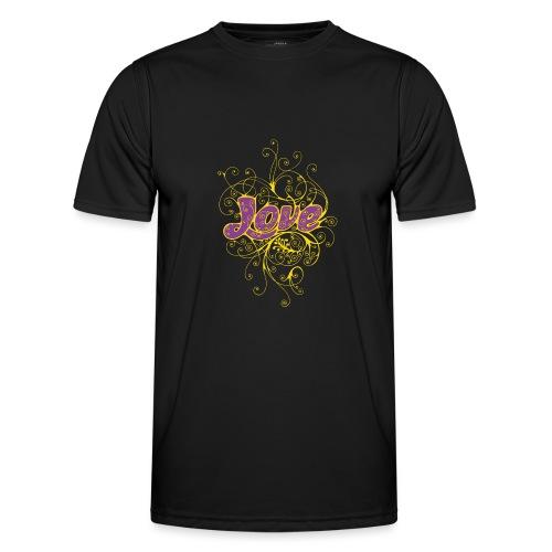 LOVE VIOLA CON DECORI - Maglietta sportiva per uomo