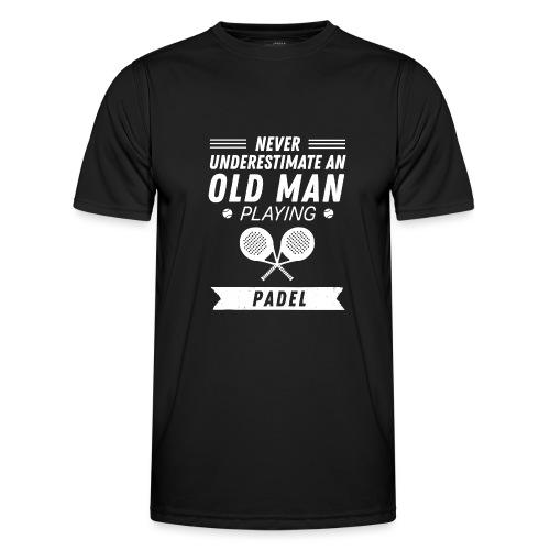 Underskatta Aldrig En Äldre Man Som Spelar Padel - Funktions-T-shirt herr