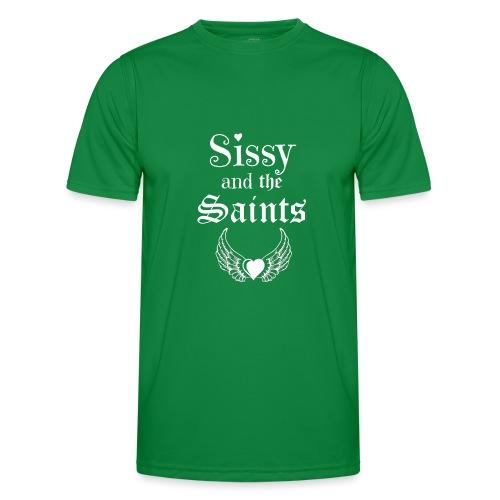 Sissy & the Saints witte letters - Functioneel T-shirt voor mannen