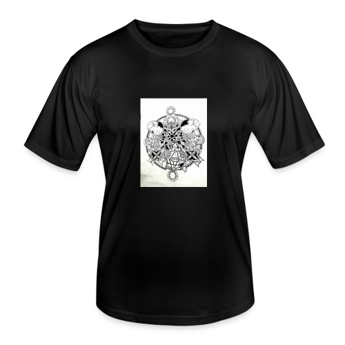 guerriere celtique entrelacs bretagne femme - T-shirt sport Homme