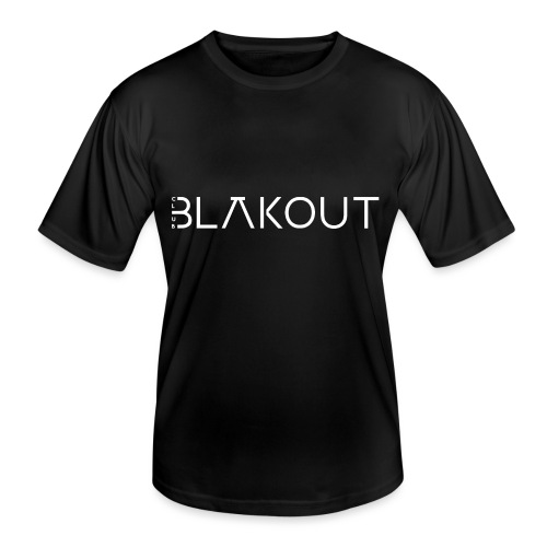Bläkout -logo valkoinen - Miesten tekninen t-paita