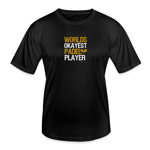 Worlds Okayest Padel Tennis Player - Funktions-T-shirt herr