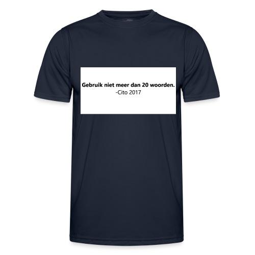 Gebruik niet meer dan 20 woorden - Functioneel T-shirt voor mannen