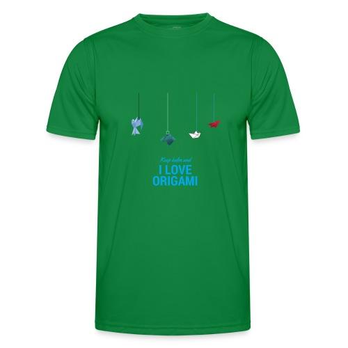 keep kalm and love origami versione estate - Maglietta sportiva per uomo