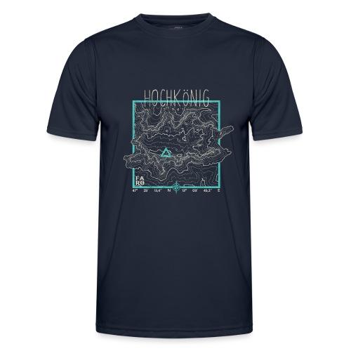 Hochkoenig Contour Lines - Square - Men's Functional T-Shirt