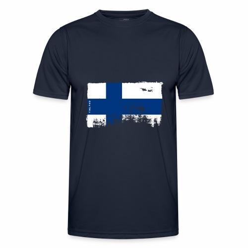 Suomen lippu, Finnish flag T-shirts 151 Products - Miesten tekninen t-paita