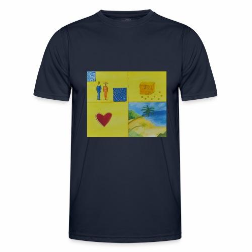 Viererwunsch - Männer Funktions-T-Shirt
