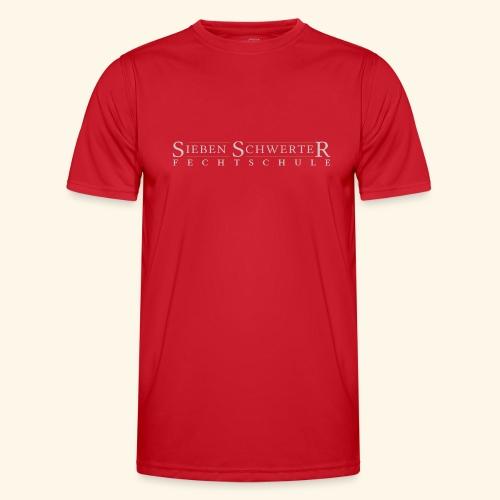 Fechtschule Schriftzug hell - Männer Funktions-T-Shirt