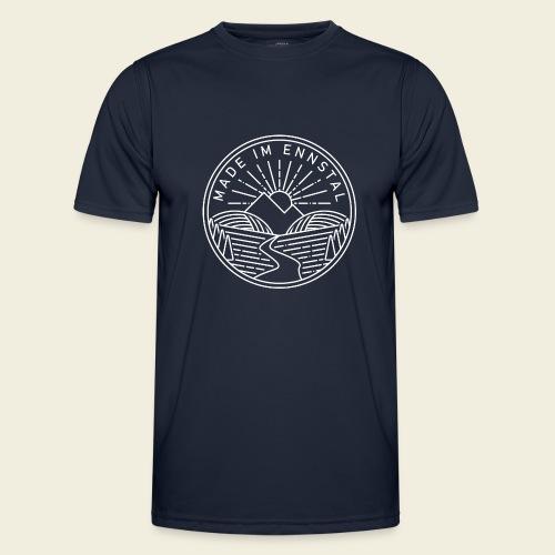 Made im Ennstal, weiß - Männer Funktions-T-Shirt