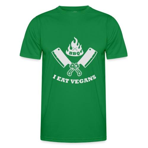 BBQ je mange végétaliens - T-shirt sport Homme