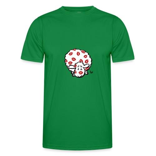 Kuss Mutterschaf - Männer Funktions-T-Shirt