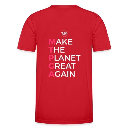 MakeThePlanetGreatAgain lettering behind - Men's Functional T-Shirt