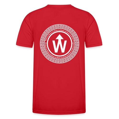 wit logo transparante achtergrond - Functioneel T-shirt voor mannen