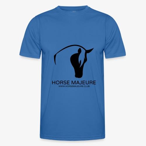 Horse Majeure Logo / Musta - Miesten tekninen t-paita