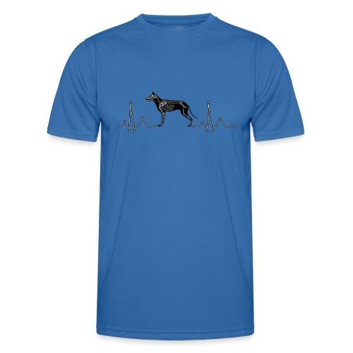 ECG met hond - Functioneel T-shirt voor mannen