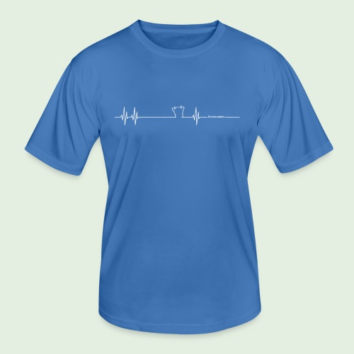 Herzschlag Grenzlandeis - Männer Funktions-T-Shirt