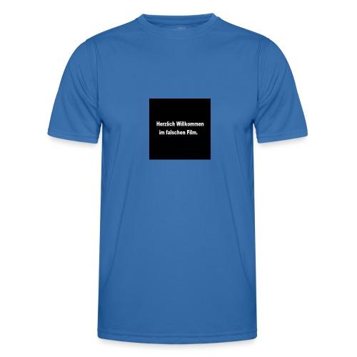 Willkommen im Falschen Film - Männer Funktions-T-Shirt