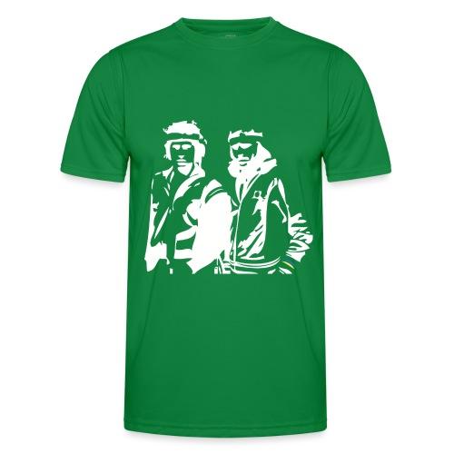 Borg McEnroe Retro Green+White - Miesten tekninen t-paita