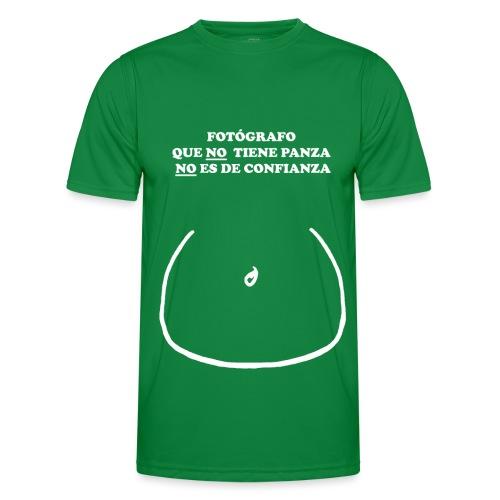 FOTÓGRAFO QUE NO TIENE PANZA NO ES DE CONFIANZA - Camiseta funcional para hombres