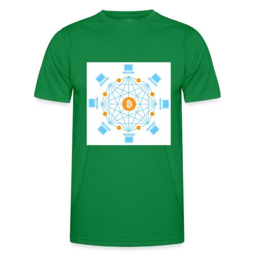 Blockchain - Miesten tekninen t-paita