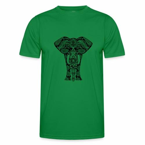Ażurowy słoń - Funkcjonalna koszulka męska