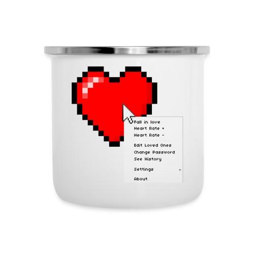 Options of the heart on a mug - Emaljekrus
