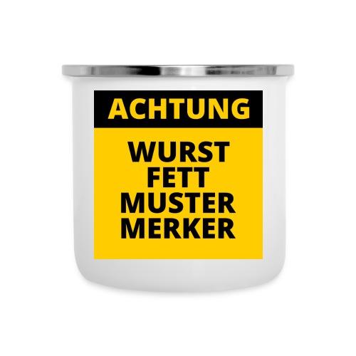 Achtung - Wurstfett! - Taza esmaltada