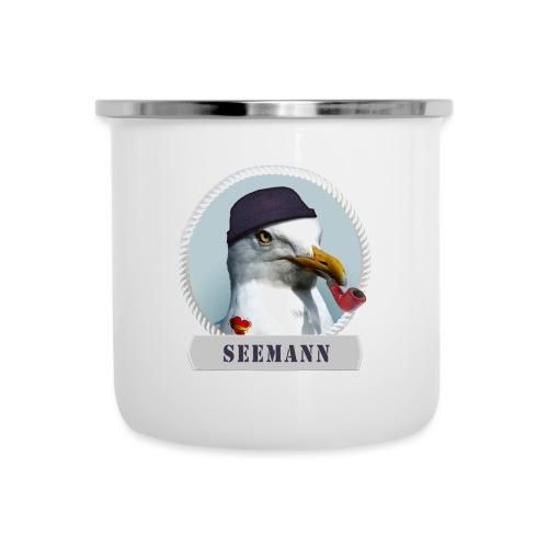 Seemann - Emaille-Tasse