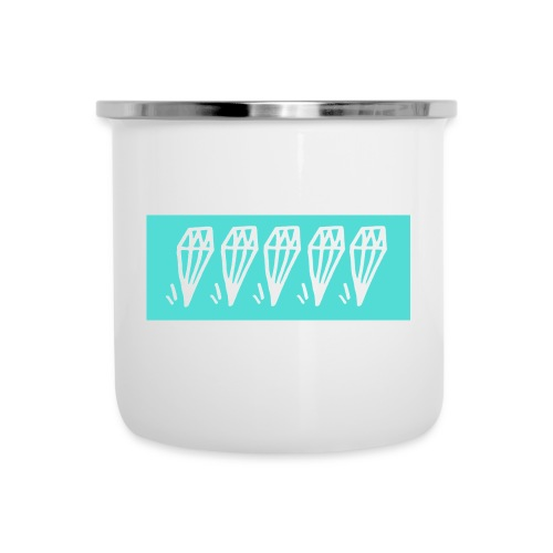 5 diamonds cyan - Camper Mug