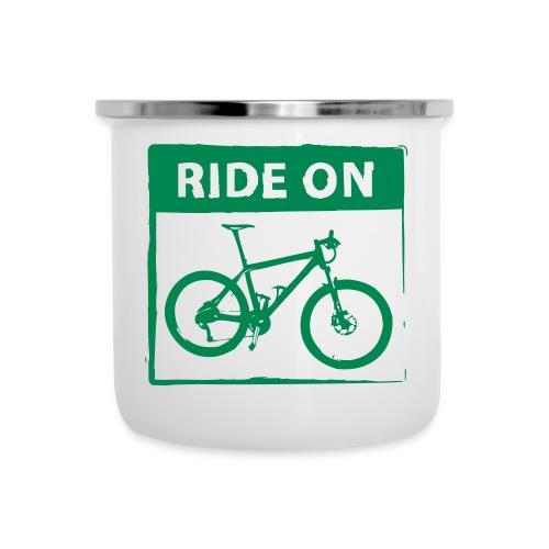 Ride On MTB 1 Color - Emaille-Tasse
