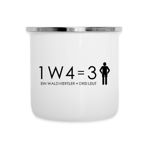 1W4 3L - Emaille-Tasse
