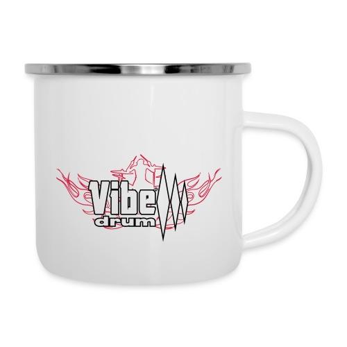Vibe_Drum_Logo_Flames - Tazza smaltata