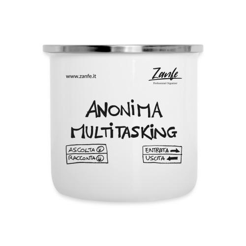 Anonima Multitasking (Nero) - Tazza smaltata
