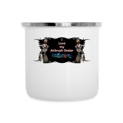 Airbrush Dealer - Emaille-Tasse