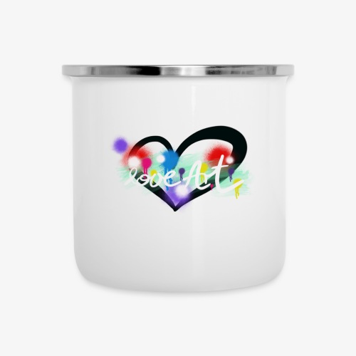 Love Art - Emaille-Tasse