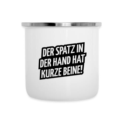 Der Spatz - Emaille-Tasse