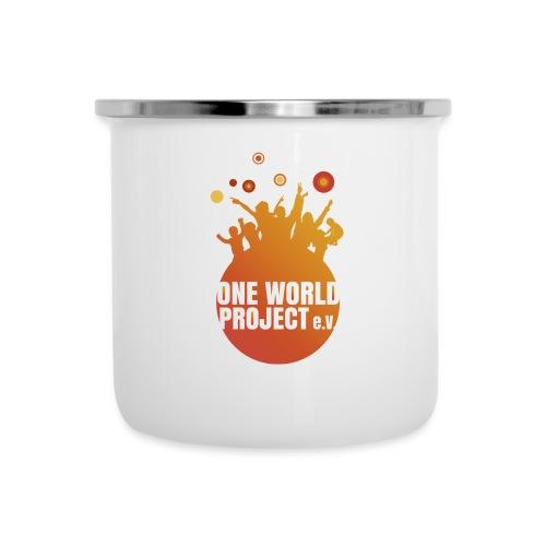 One World Project e. V. - Logo - Emaille-Tasse