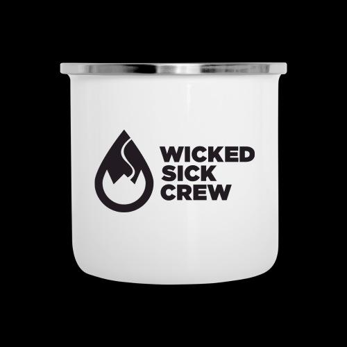 Wicked Sick Crew Tropfen schwarz - Emaille-Tasse