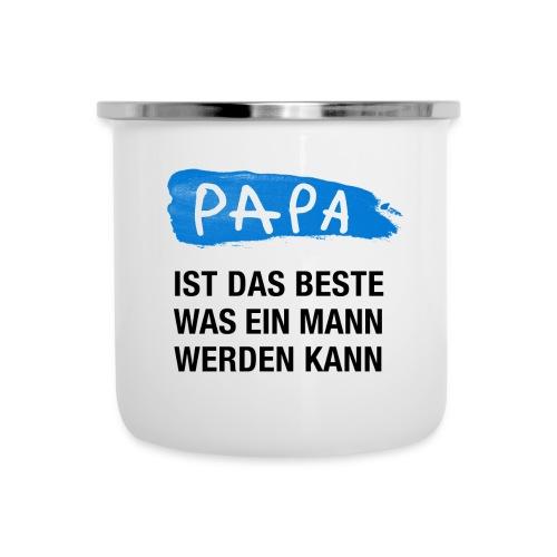 Papa ist das Beste was ein Mann werden kann (blau) - Emaille-Tasse