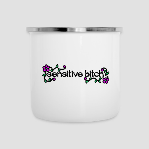 Sensitive Bitch (black) - Camper Mug