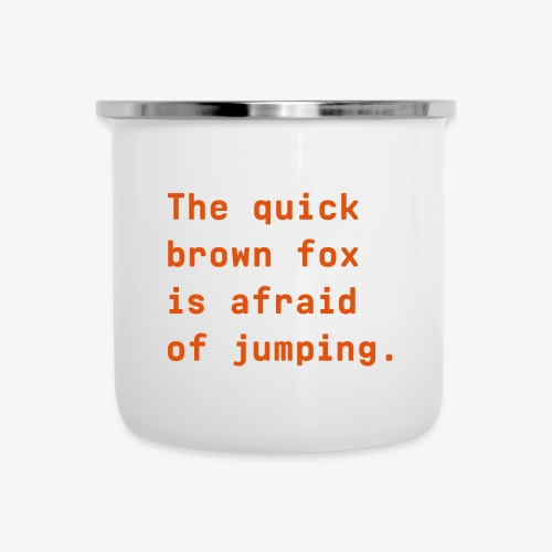 Quick Brown Fox - Emaille-Tasse