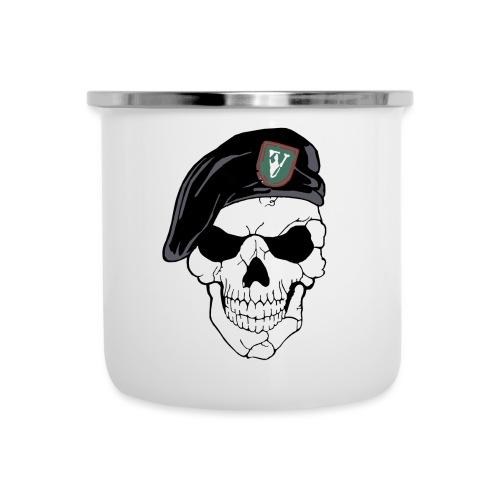 Veterans Platoon Skull - Emaljekrus