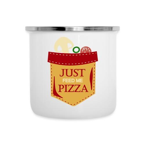 Dammi solo la pizza - Tazza smaltata