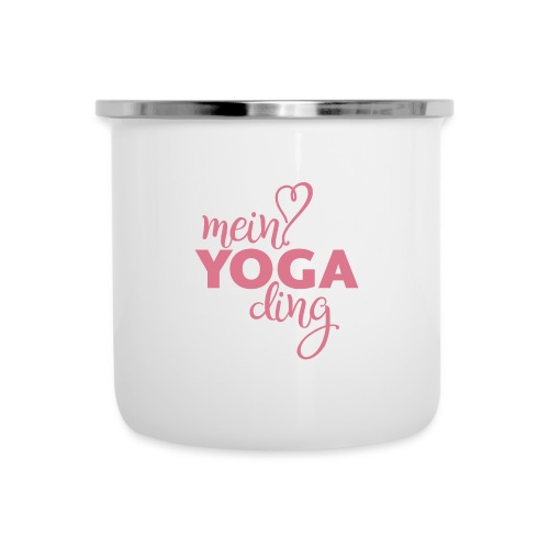 Mein Yogading pink - Emaille-Tasse