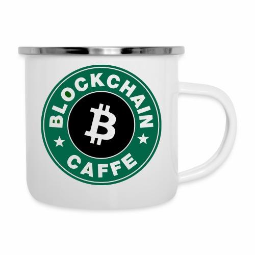 BlockChain Caffè Logo - Tazza smaltata