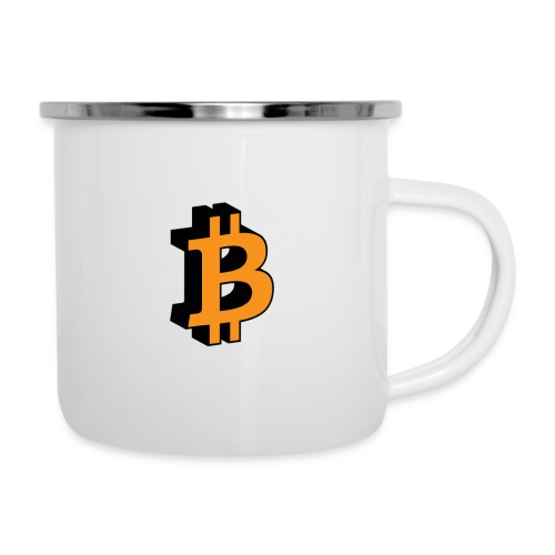 Bitcoin - Emaille-Tasse