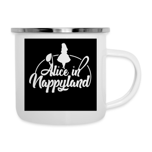 Alice in Nappyland TypographyWhite 1080 - Camper Mug